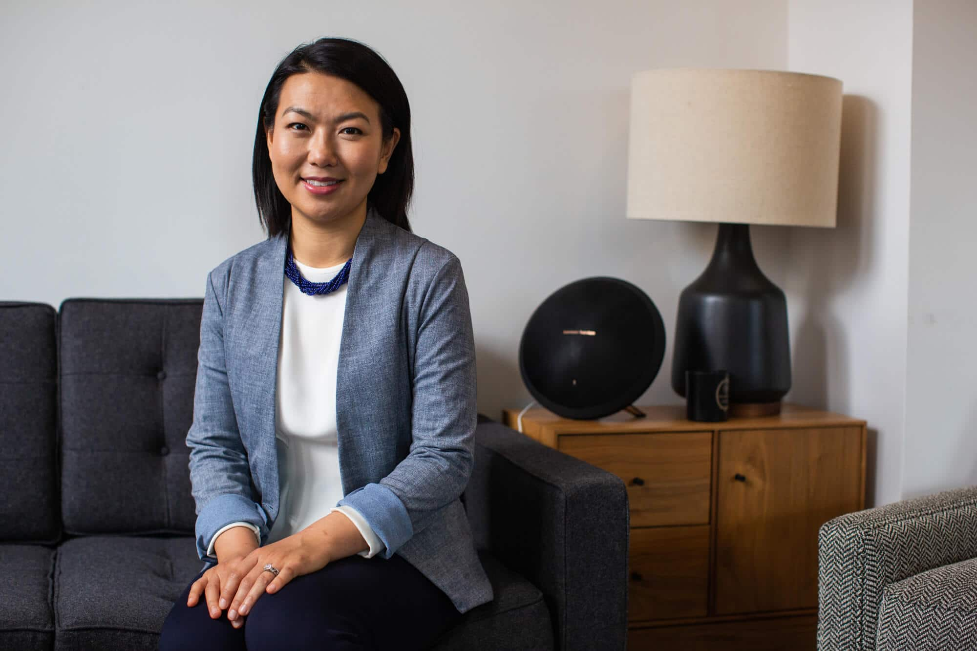 Jenny Yip in the Adjuvant Capital office.
