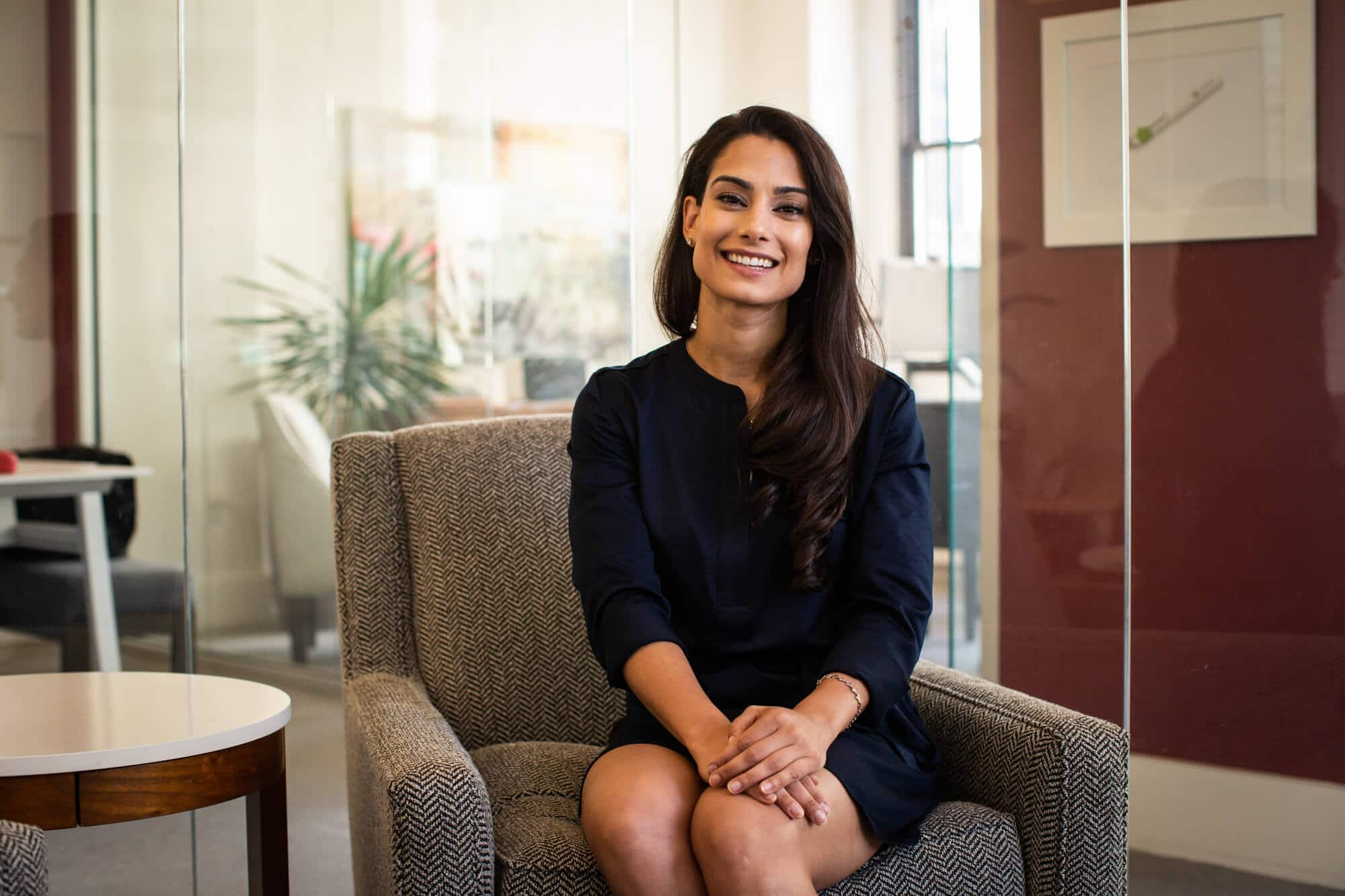 Lilly deSouza Burr in the Adjuvant Capital office.